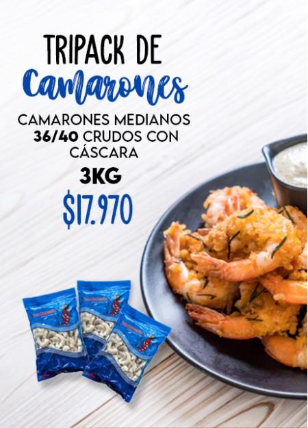 Tripack Camarón 36-40 con Cascara