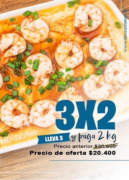 Oferta 3x2 Camarón 51/60 Pelado Desvenado