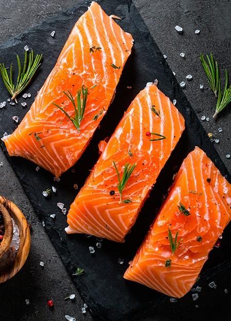 Salmon Sin Piel Porción